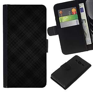 All Phone Most Case / Oferta Especial Cáscara Funda de cuero Monedero Cubierta de proteccion Caso / Wallet Case for Samsung Galaxy A3 // Black Criss Cross Pattern