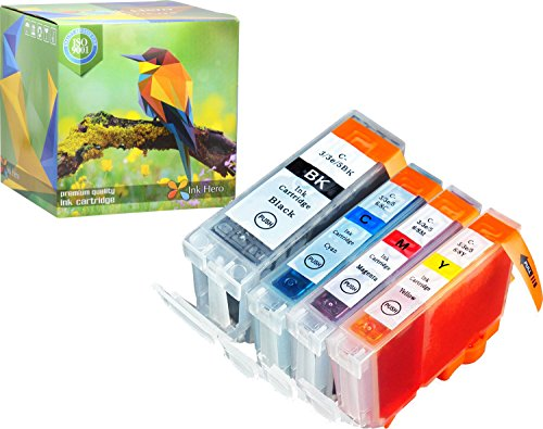 Ink Hero 4 Pack Ink Cartridges for BCI-3 BCI-6 Pixma iP3000 i560 Printer Inks for Inkjet Printers