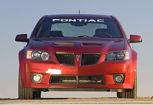 Pontiac Decal - Jis Decals Generic PONTIAC WINDSHIELD DECAL (40 INCH WIDE) (WHITE)