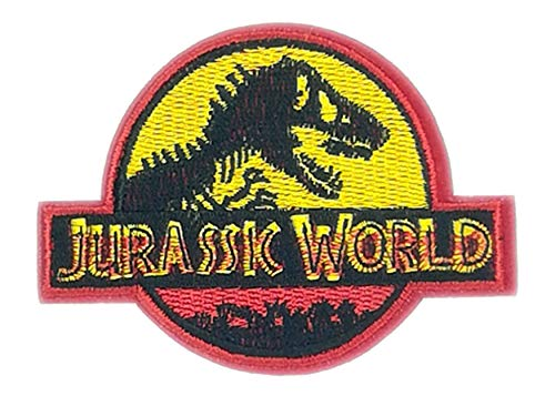Application Classic Jurassic World: Fallen Kingdom Logo Cosplay Badge Embroidered Iron Or Sewn-On Applique Patch ()