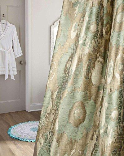 TSC Ikat satin faux silk jacquard woven fabric 72