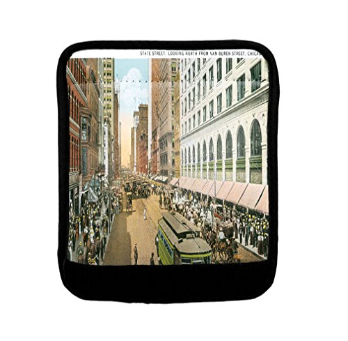State St, Look From Van Buren St Chicago Luggage Handle Wrap Finder by Style in Print
