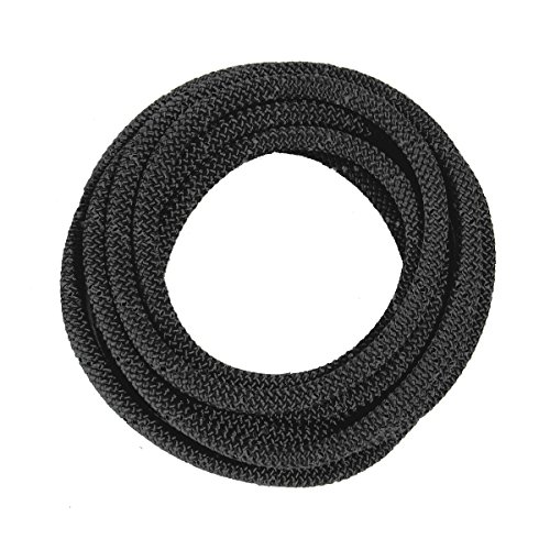 OmniProGear 8mm x 11ft Prusik Cord Tactical Black Made IN USA MBS 16.44kN (3700lbs) by OmniProGear