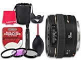 Canon EF 50mm f/1.4 USM Lens for Canon DSLR Cameras - International Version (No Warranty) + 3pc Filter Kit (UV, FLD, CPL) + 3pc Accessory Kit w/ Celltime Cleaning Cloth