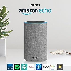 Das neue Amazon Echo (2. Generation), Hellgrau Stoff