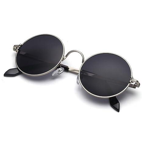 LIZHIQIANG Marco Redondo Prince Mirror Gafas De Sol Redondas ...