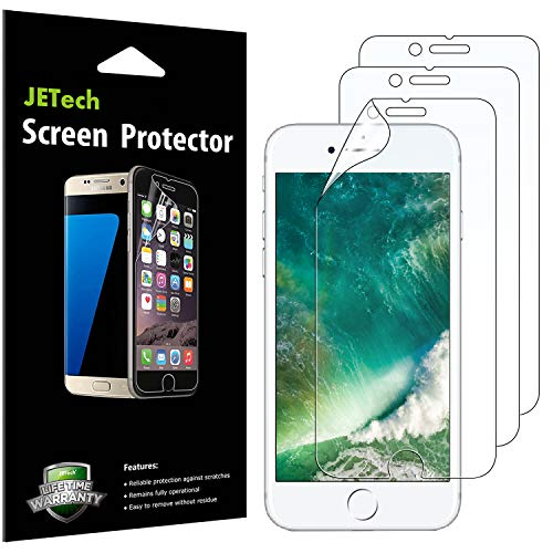 JETech Screen Protector for iPhone 8 and iPhone 7, PET Film, HD Clear, 3-Pack