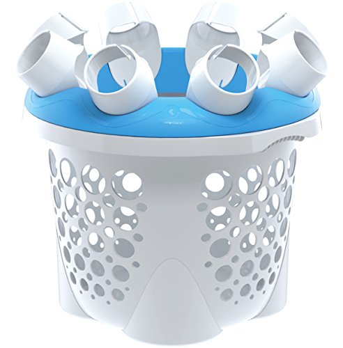 SockSync - Sock Sorter, Laundry Organizer - First and Only Patented Solution Solving The Hassle of Sock Sorting and Matching, IHA Innovation Award Finalist, Blue & White Color (Made in USA)