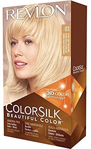Price comparison product image Revlon ColorSilk Hair Color,  03 Ultra Light Sun Blonde 1 ea (Pack of 5)
