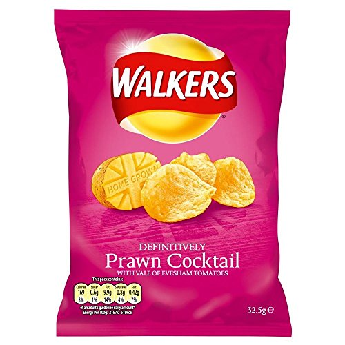 (Walkers Crisps - Prawn Cocktail (32.5g) - Pack of 6)