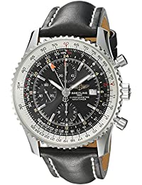Men's A2432212/B726BKLT Black Dial Navitimer World Watch