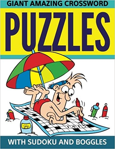 Book Giant Amazing Crossword Puzzles: With Sudoku And Boggles
