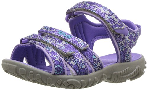 Teva Girls' Tirra Sandal, Purple Floral, 9 M US Toddler ()