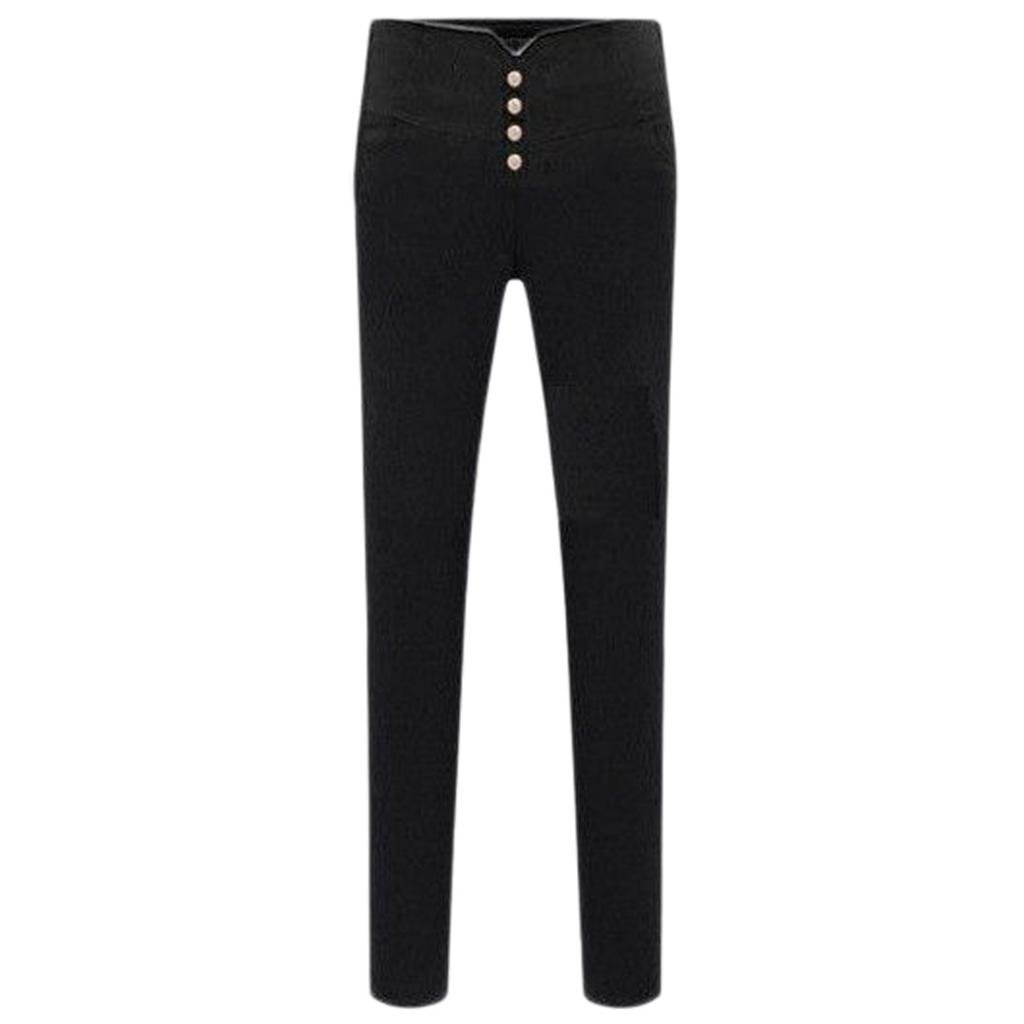 Empire Line Plus Thick Velvet Stretch Pencil Pants Skinny Trousers