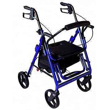 Andador Rollator 4 ruedas c/asiento Sit & Roll 2: Amazon.es: Salud ...