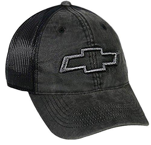 Outdoor Cap Chevrolet Mesh Back Cap, Black