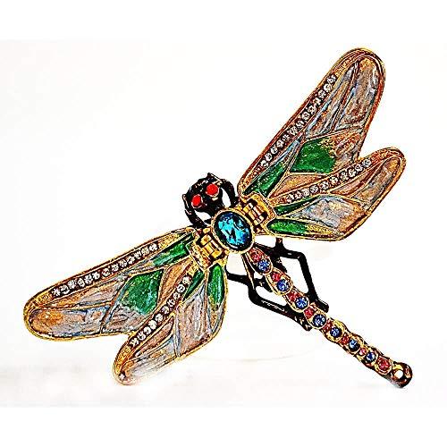 Ciel Collectables Dragonfly Trinket Box. Hand Made with Swarovski Crystals & Enamel