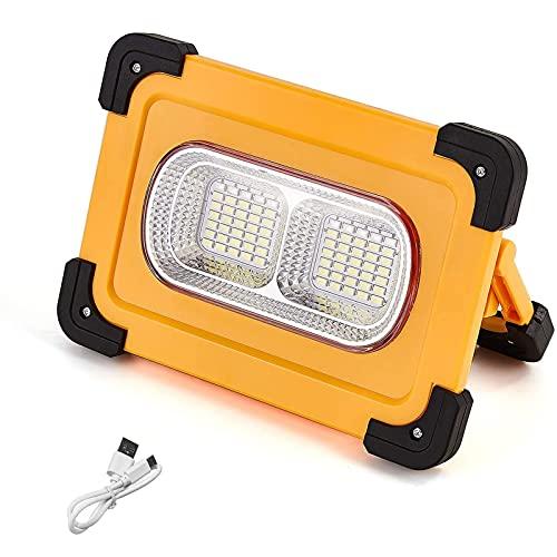WOERD LED Baustrahler Akku, LED Arbeitsstrahler Tragbare, 70 LED Flutlicht mit 4 Lichtmodi Campinglampe Wasserdicht…