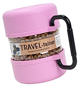 Vittles Vault Home Travel-tainer pink