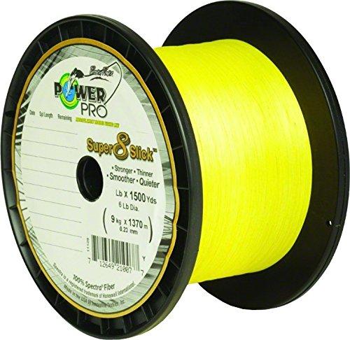 PowerPro Super 8 Slick 80Lb 1500 Yard Yellow 31100801500Y