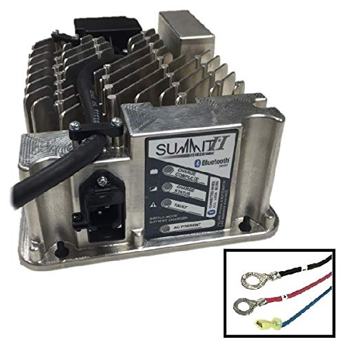 Lester Summit Series II Battery Charger 650W 36/48V, 5/16-in Ring Terminals with QD Lockout, 6 Ft. (Ft Series Terminals)