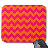SJFY Hot Pink Large Mousepad Tangerine Orange Extra Large Mouse Pad 9.25 x 7.75