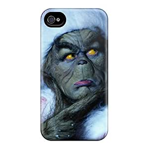 Great Hard Phone Cases For Iphone 4/4s (vCI21573MuXP) Support Personal Customs Nice The Grinch Skin