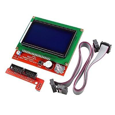 WINGONEER 3D Printer Controller Kit Ramps 1.4 + Full Graphic Smart Display Controller + Mega2560 + A4988 Stepper Motor Driver for RepRap (12864 LCD Full Graphic Smart Display Controller)
