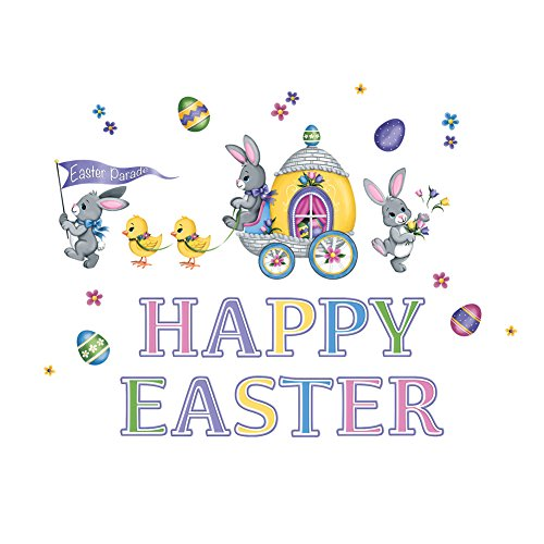 Garage Door Magnet Set Decoration - Happy Easter Bunny & Chick Parade ()
