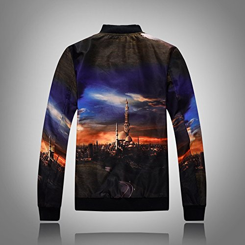 Marea Di Coreano Stampa jacket Slim Uomini Giacca Xxl Baseball Camicia 3d Maschio Ylsz wqHB1v
