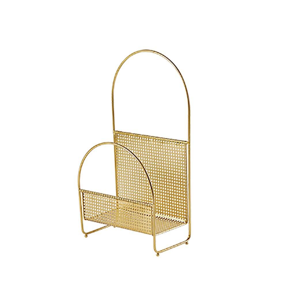 SYF フロアスタンドホームマガジンラック|創造的な金属錬鉄製の家族新聞ラック|リビングルームの装飾的な本棚38 x 20 x 70 cm A+ (色 : A)  A B07RLRTR7Y