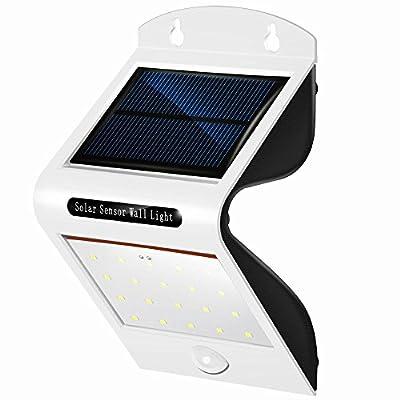 Portefeuille Solar Light, 20 LED Wireless Waterproof Motion Sensor Light Outdoor Decorative for Patio Lawn Garden Yard