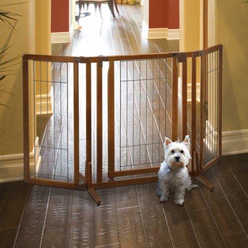 Richell Premium Plus Freestanding Pet Gate with Door, My Pet Supplies