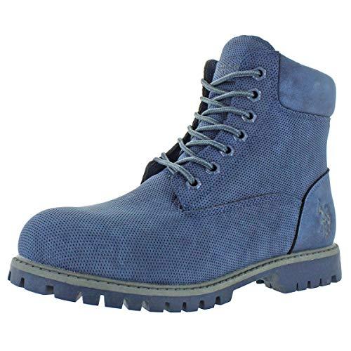 U.S. Polo Assn. Owen High Men's Faux Nubuck Ankle Boots Blue Size 11