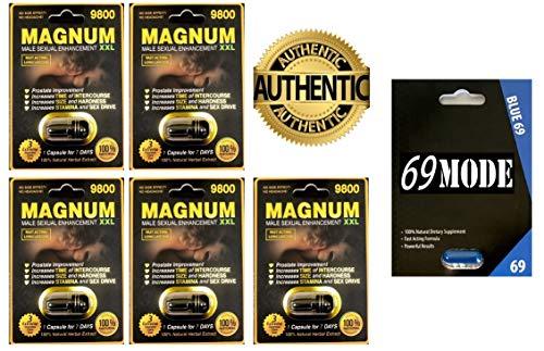 (Magnum 9800 Male Sexual Performance Enhancer 5Pills 69MODE Blue69 1Pill - Authorized Dealer)