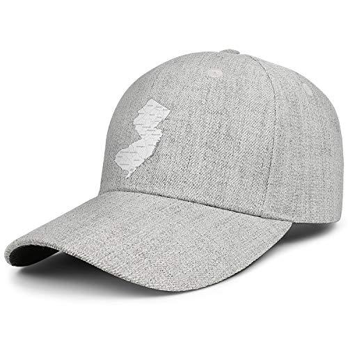 New Jersey Map The Great Garden State Baseball Cap Unisex Adjustable Duck Tongue Hat Designer Running Caps