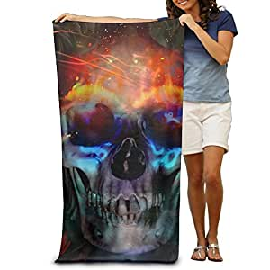 Skull Club Beach Bath Pool Hooded Extra Large Towels Blanket For Adult
