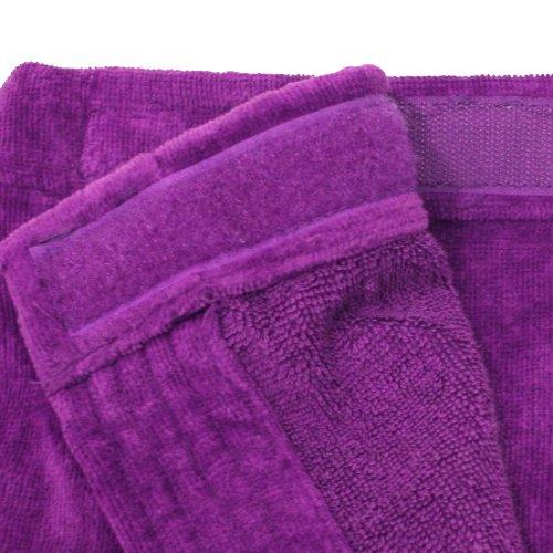 Velour Bath Wrap (Terry Spa Women BathWrap Towel, Terry Cotton Velour Bath Wrap, Spa Wrap for Women with adjustable Velcro on Chest in)