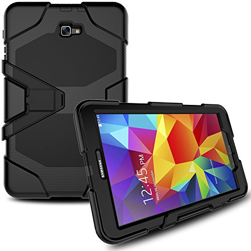 Samsung Galaxy Tab A 10.1 Case with Screen Protector, Betty [Anti-Scratch] Heavy Duty Hybrid Resistant Shockproof Defender Protective Back Cover with Kickstand for Galaxy Tab A 10.1 Inch SM-T580/T585 by Betty Shop