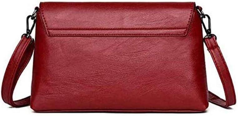 N/A NA Sacchetti di Spalla, a Tracolla Borse a Spalla Le Donne Le Borse del Progettista Shoulder Bag Moda Borsa e Borsa PU Pelle Borse Crossbody for Le Donne (Color : Black) Red