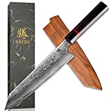 Best Japanese Knives - KATSU Kiritsuke Chef Knife - Damascus - Japanese Review