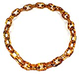 Style-ARThouse Lovely Links No. 3'' Tortoise Shell Pattern Acrylic Long Necklace, 32 Inches