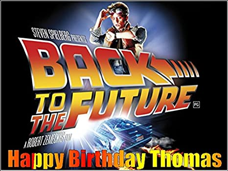 Superb A4 Back To The Future Movie Edible Icing Birthday Cake Topper 80S Funny Birthday Cards Online Alyptdamsfinfo