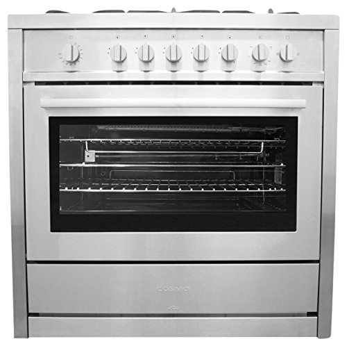 36 in. Gas Range with 5 Italian Made Burners, Oven, Broiler, Motorized Rotisserie, Lower Storage Cabinet Cosmo COS-965AG by Cosmo