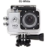 ZHUOTOP 1080P Waterproof Camera Universal Full HD Lot Car Cam Sports Action Camera White