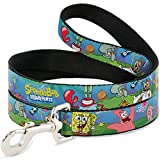 Best Buckle Down Friends For Dogs - Buckle-Down DL-WSQ002 Dog Leash, Spongebob and Friends/Logo, 4 Review