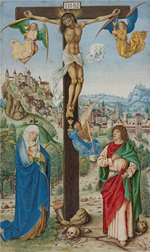 Oil Painting 'The Crucifixion,about 1475-1500', 10 x 17 inch / 25 x 43 cm , on High Definition HD canvas prints is for Gifts And Game Room, Living Room And - Blizzard Website Beach