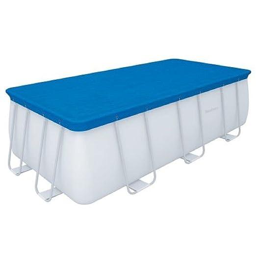 Top cubierta piscina con marco Bestway 58472 cm.488 x 244 ...