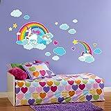 BirthdayExpress Enchanted Fairytale Unicorn Rainbow Room Decor - Giant Wall Decal
