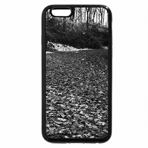 iPhone 6S Plus Case, iPhone 6 Plus Case (Black & White) - Autumn Nature Trail